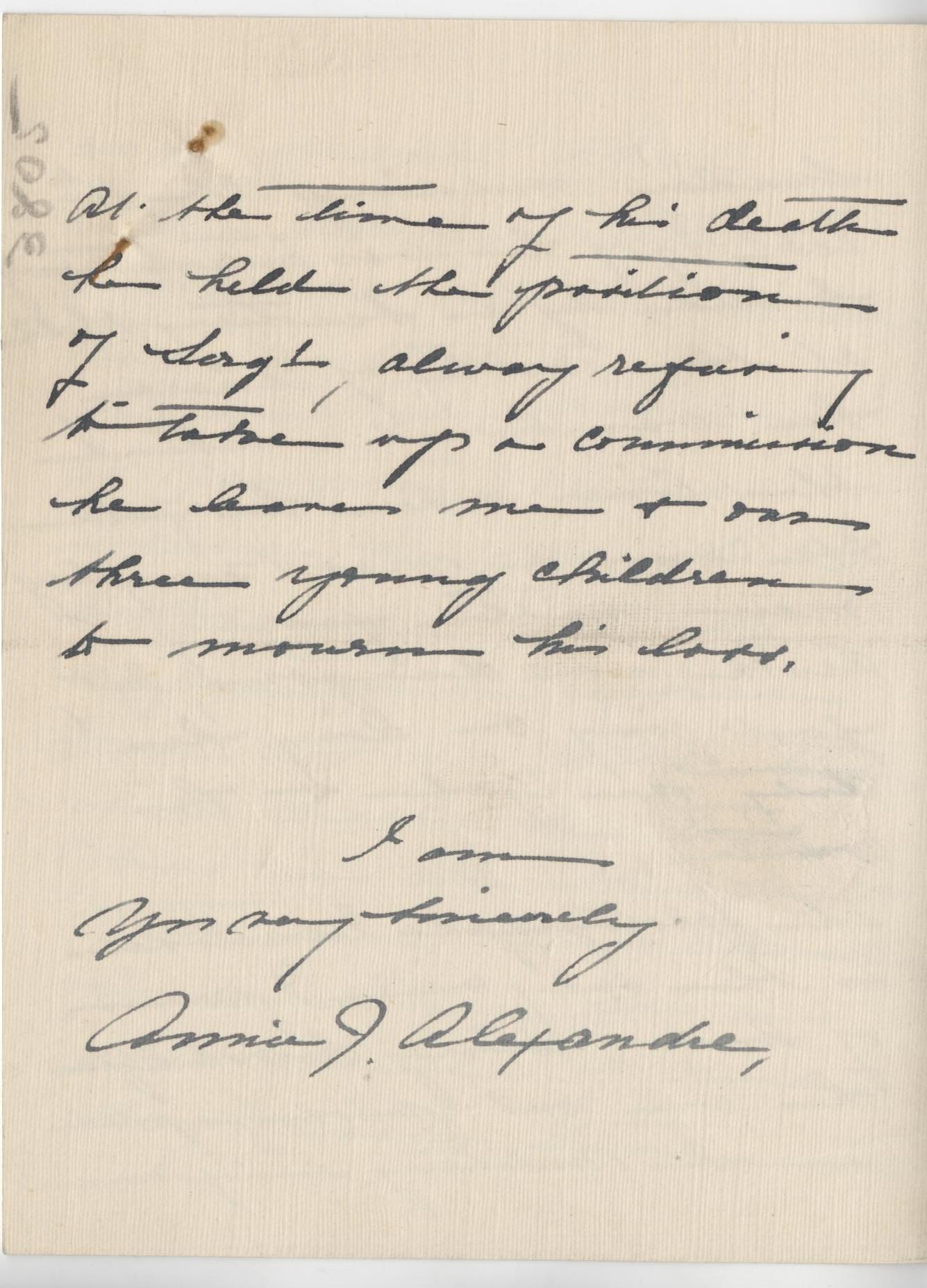 Alexandre JW Second Widow Letter 3