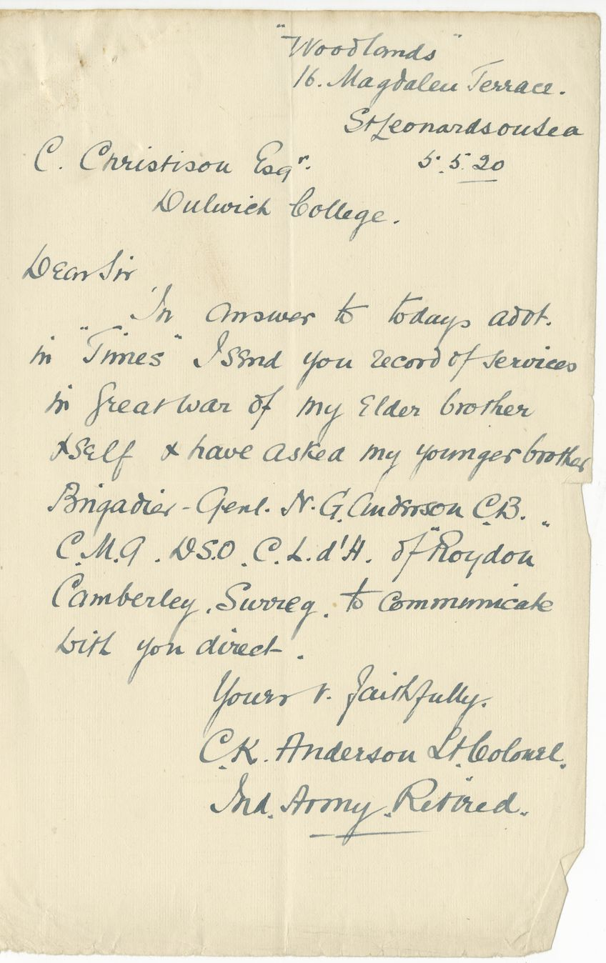 Anderson HL First Brother Letter