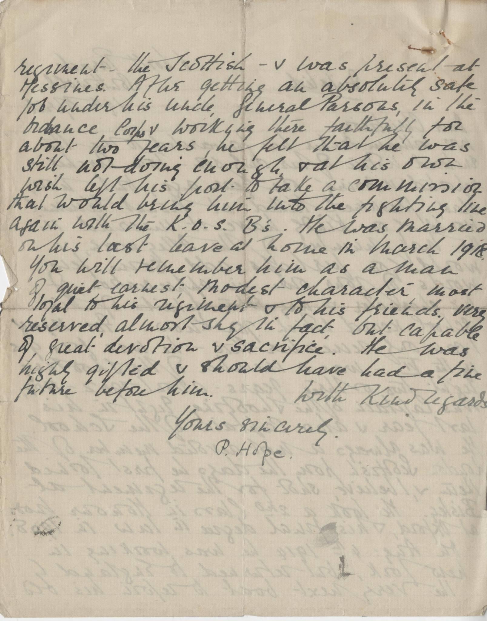 Archer T Hope Letter 2