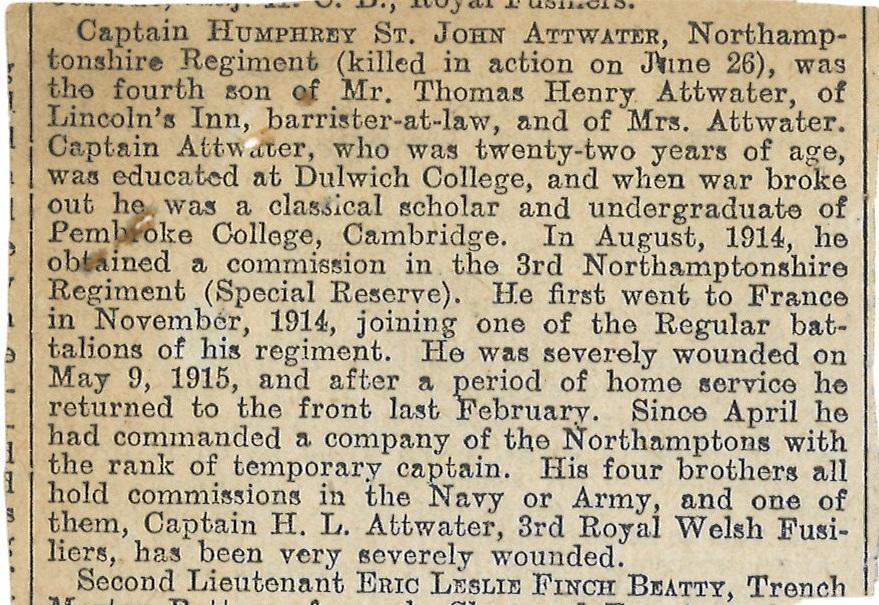 Attwater HSt.J Obituary