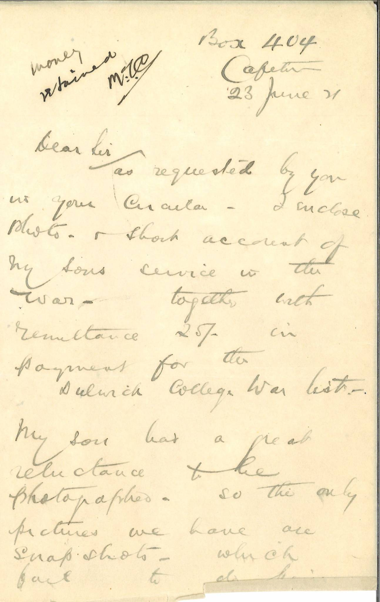 Ball AS Second Father Letter 1