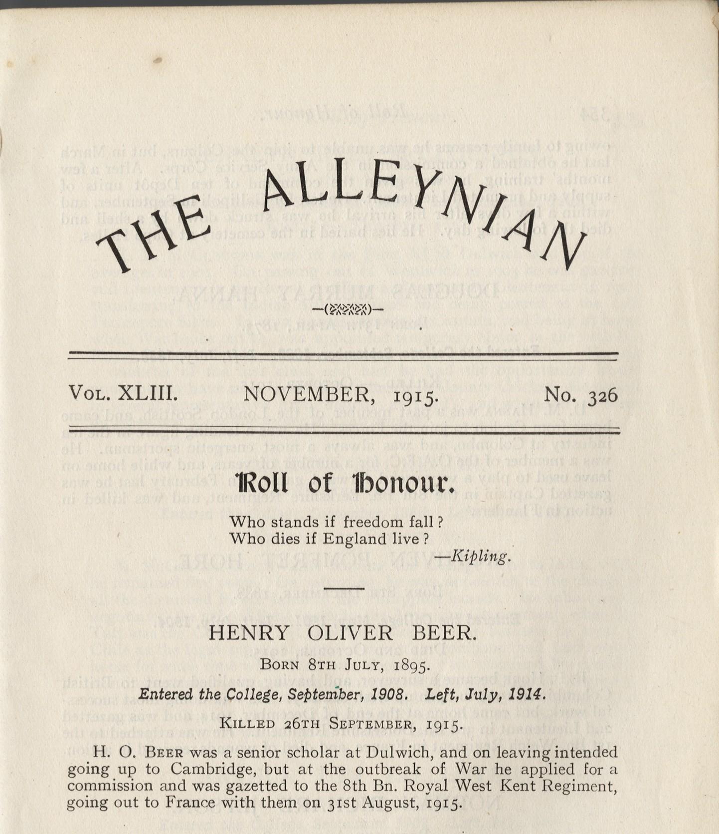 Beer HO Alleynian