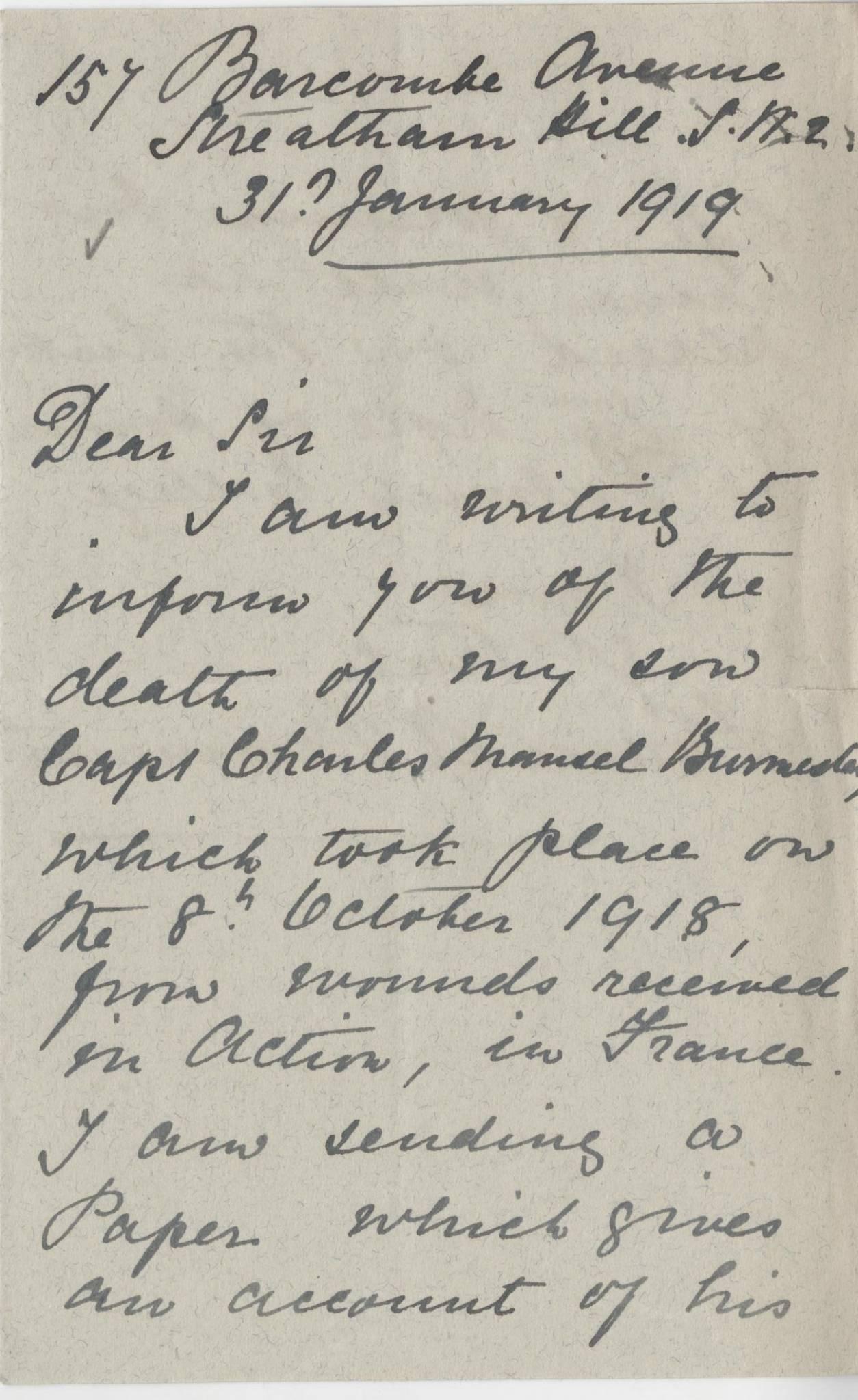 Burmester CM First Mother Letter 1