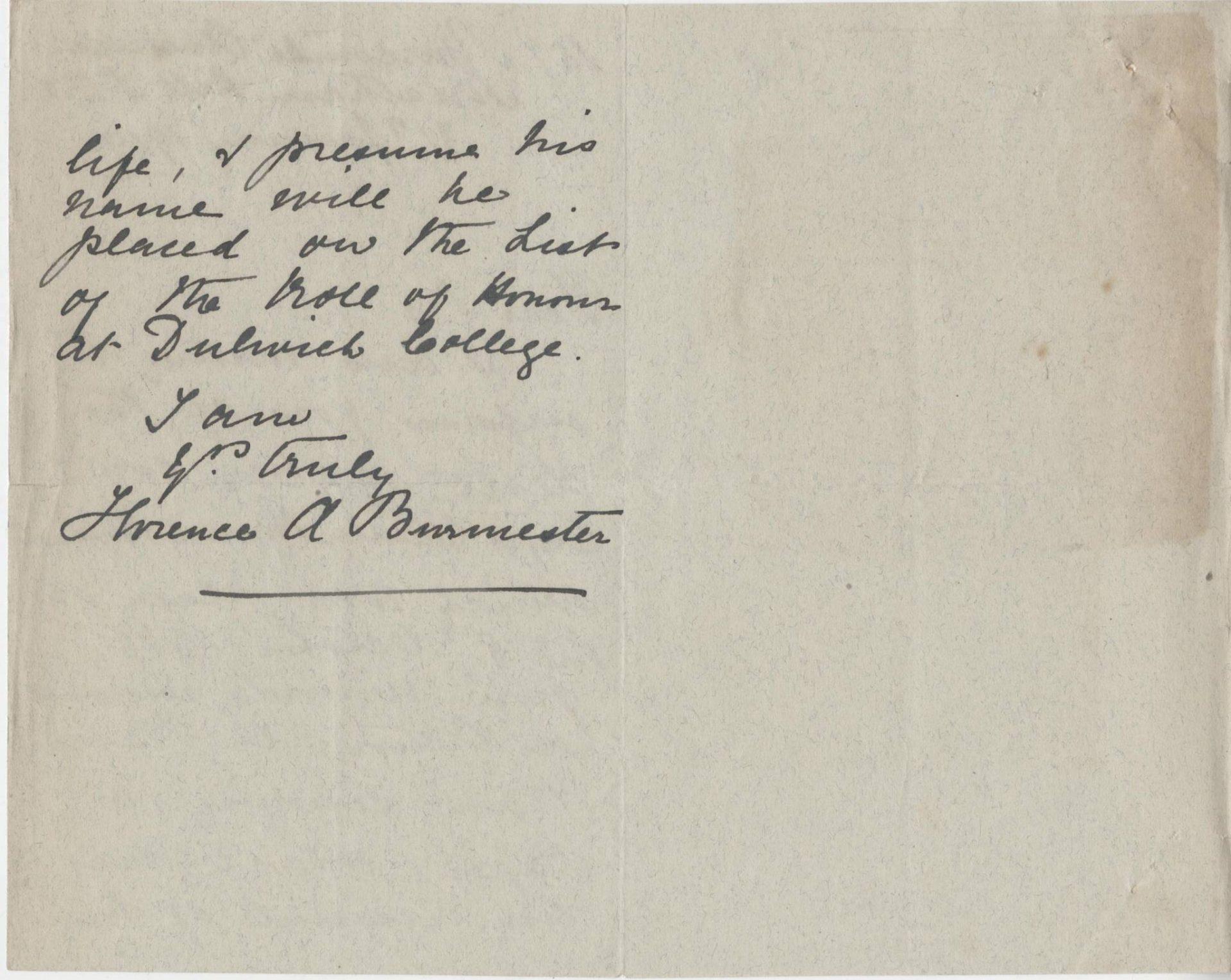 Burmester CM First Mother Letter 2