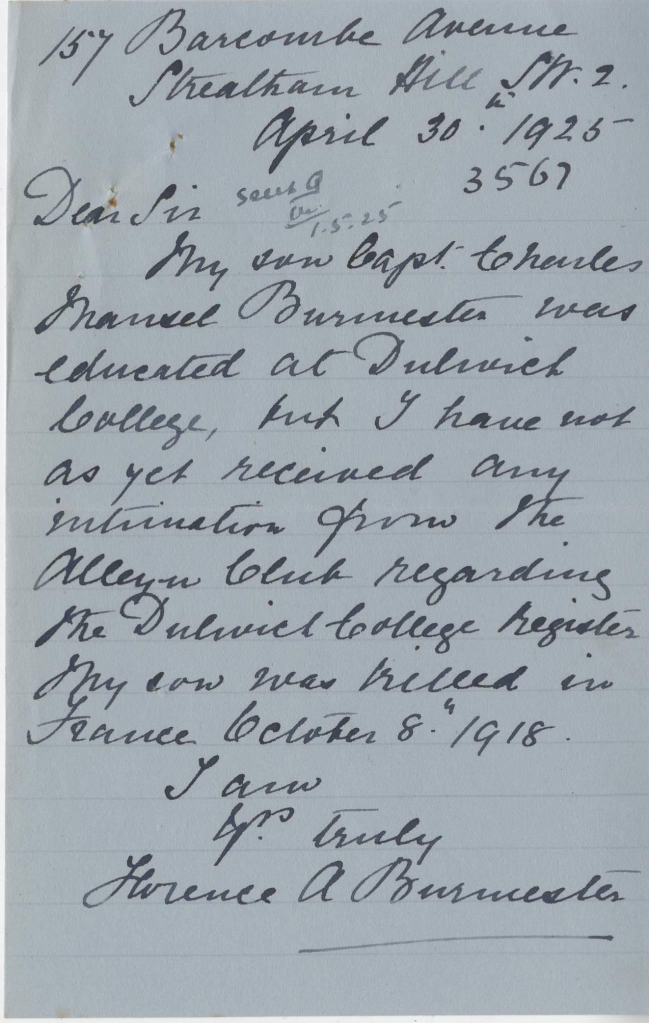 Burmester CM FourthMother Letter