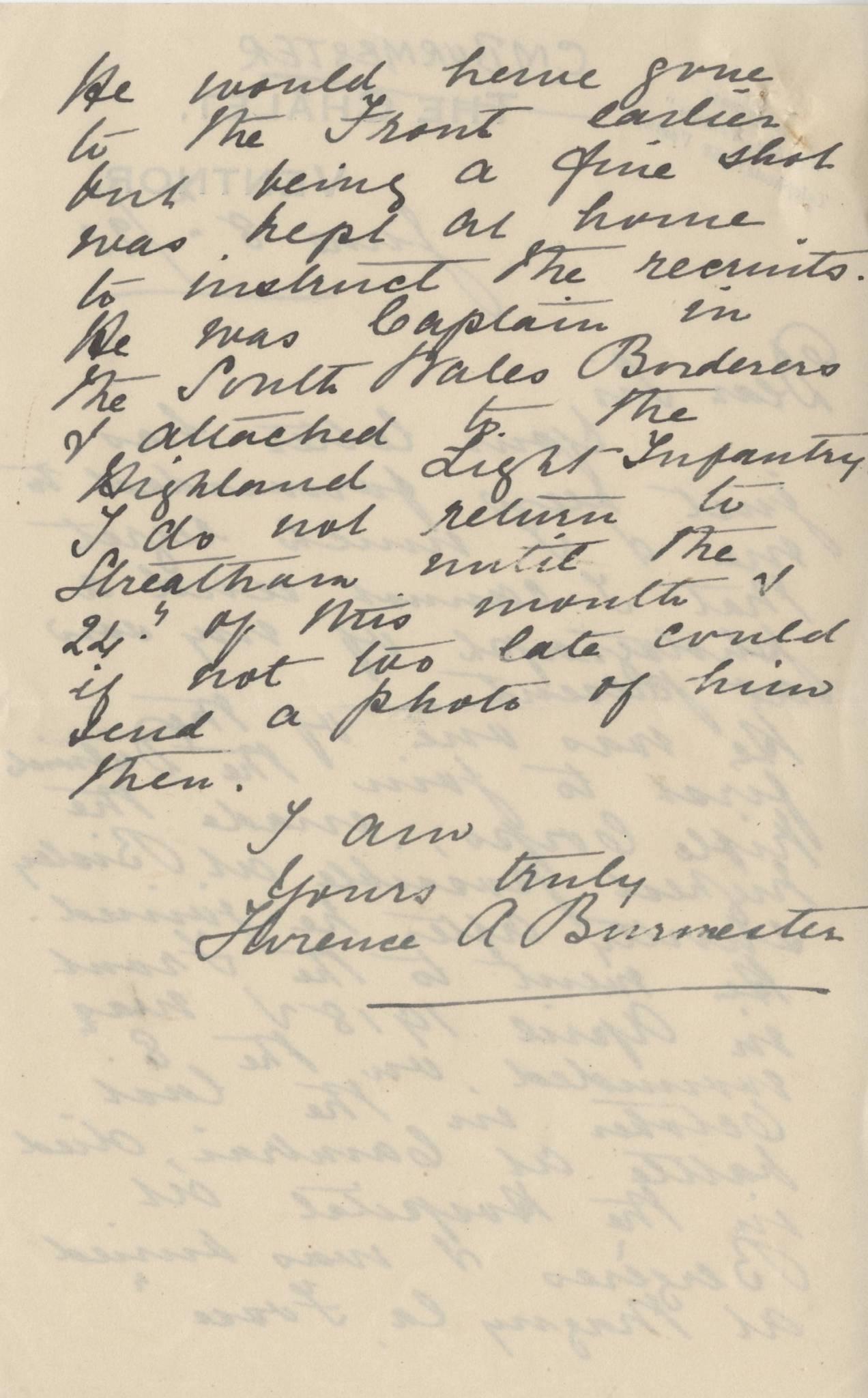 Burmester CM Second Mother Letter 2