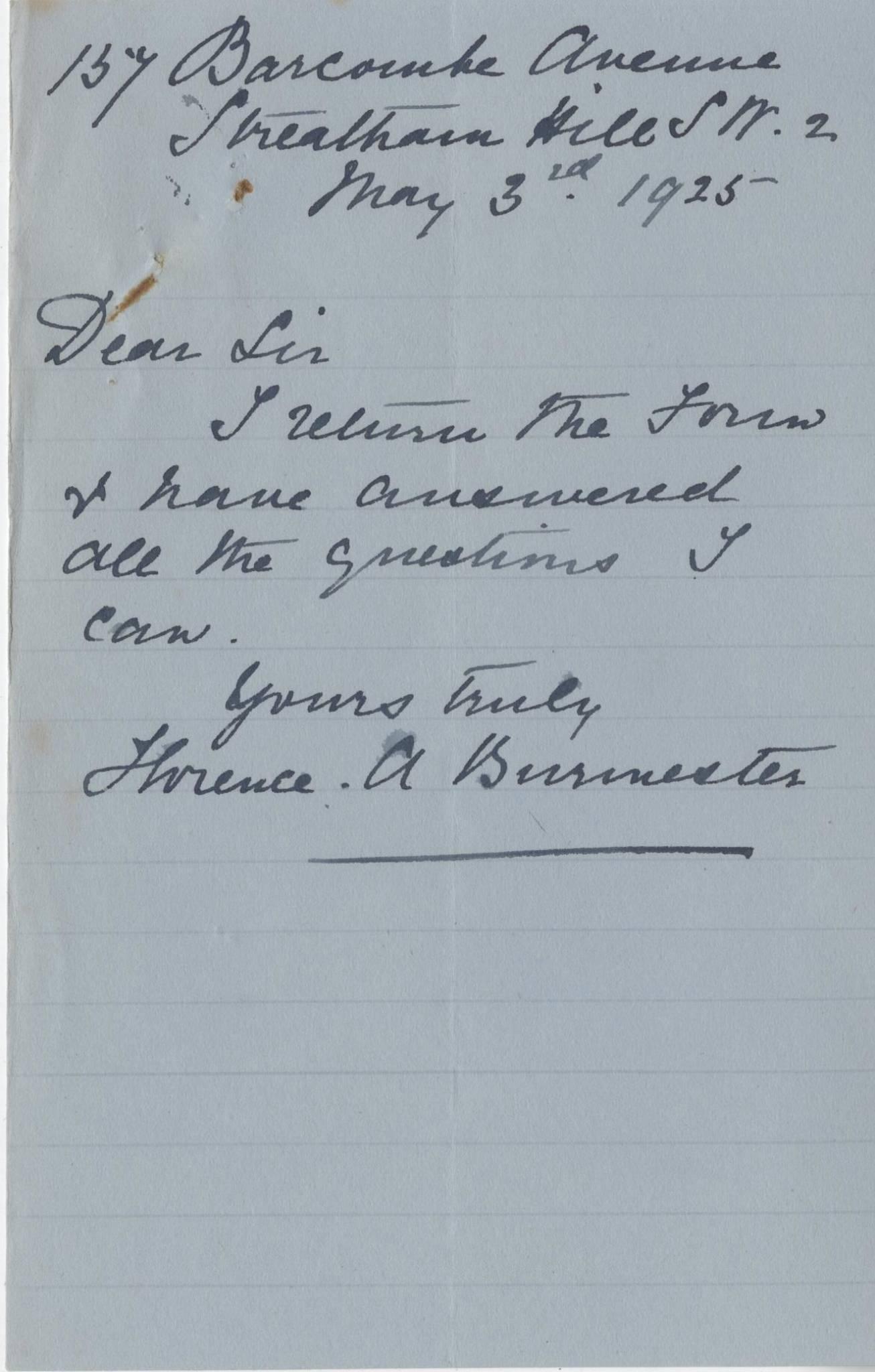 Burmester CM Third Mother Letter
