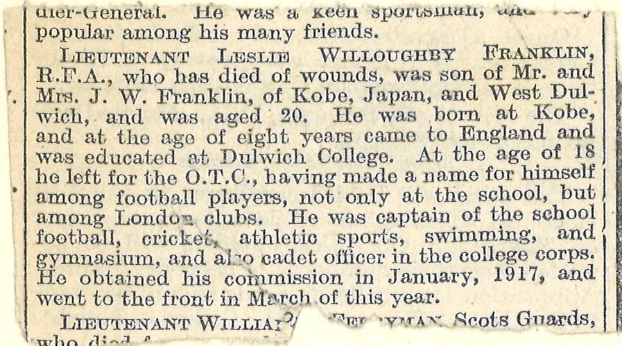 Franklin LW Obituary