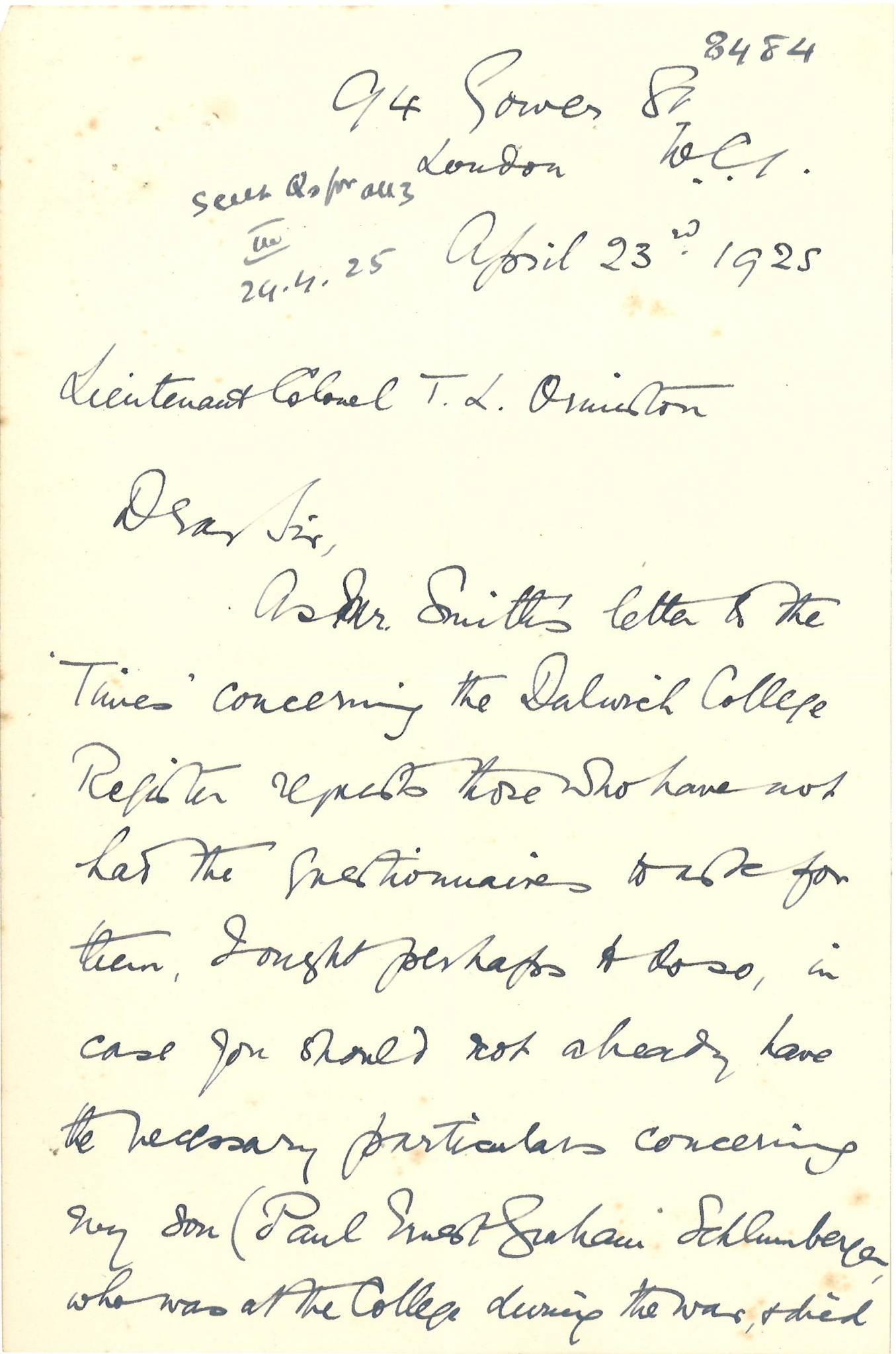 Graham PE Mother Letter 1