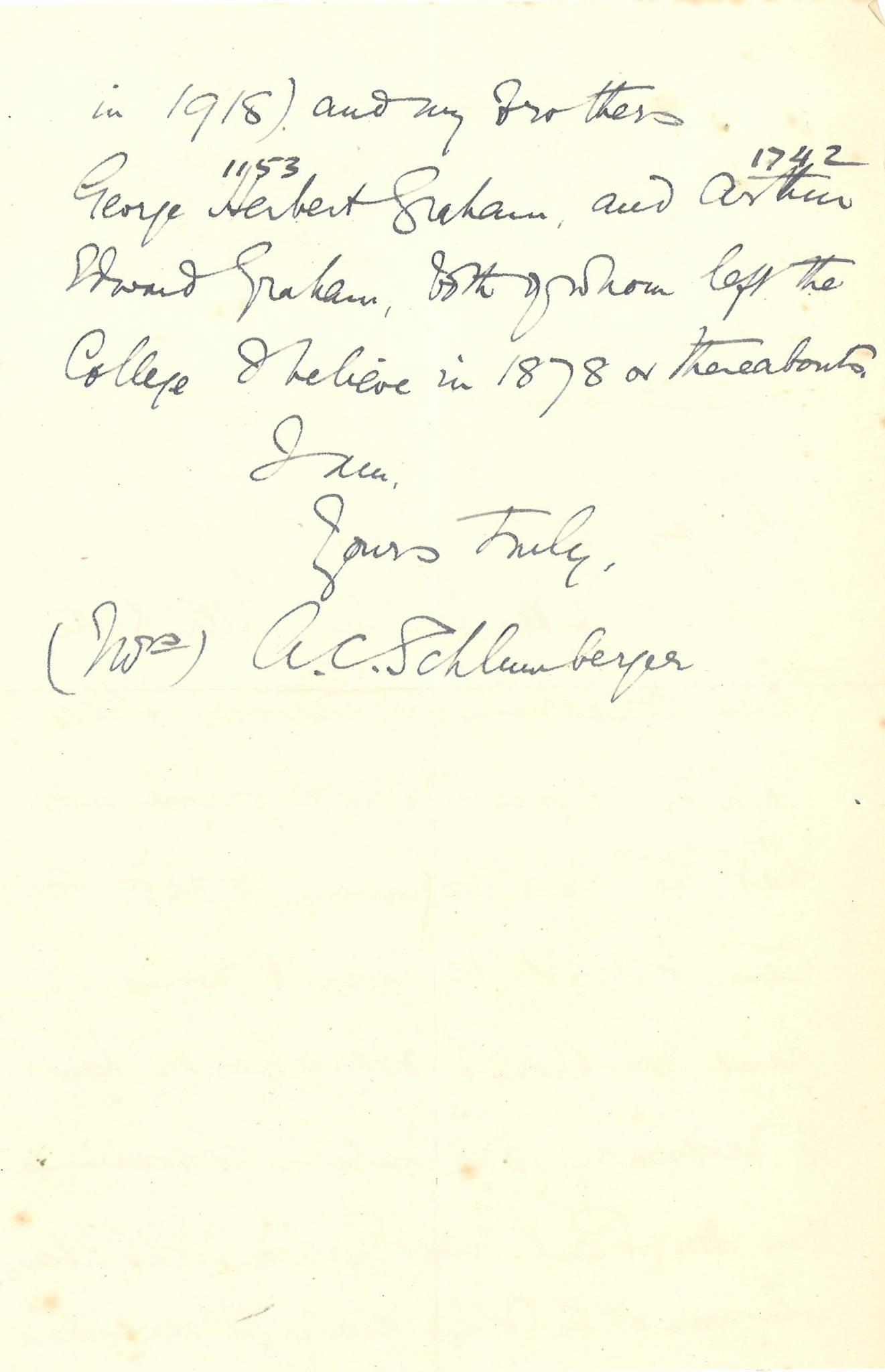 Graham PE Mother Letter 2