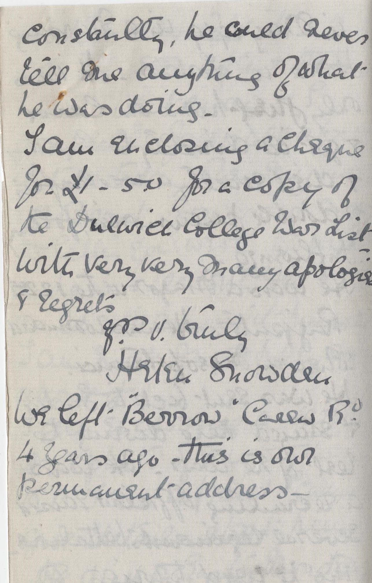 Holmes HL First Sister Letter 3