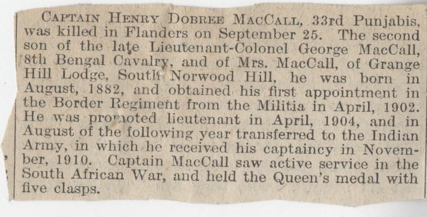 Maccall HD Obituary