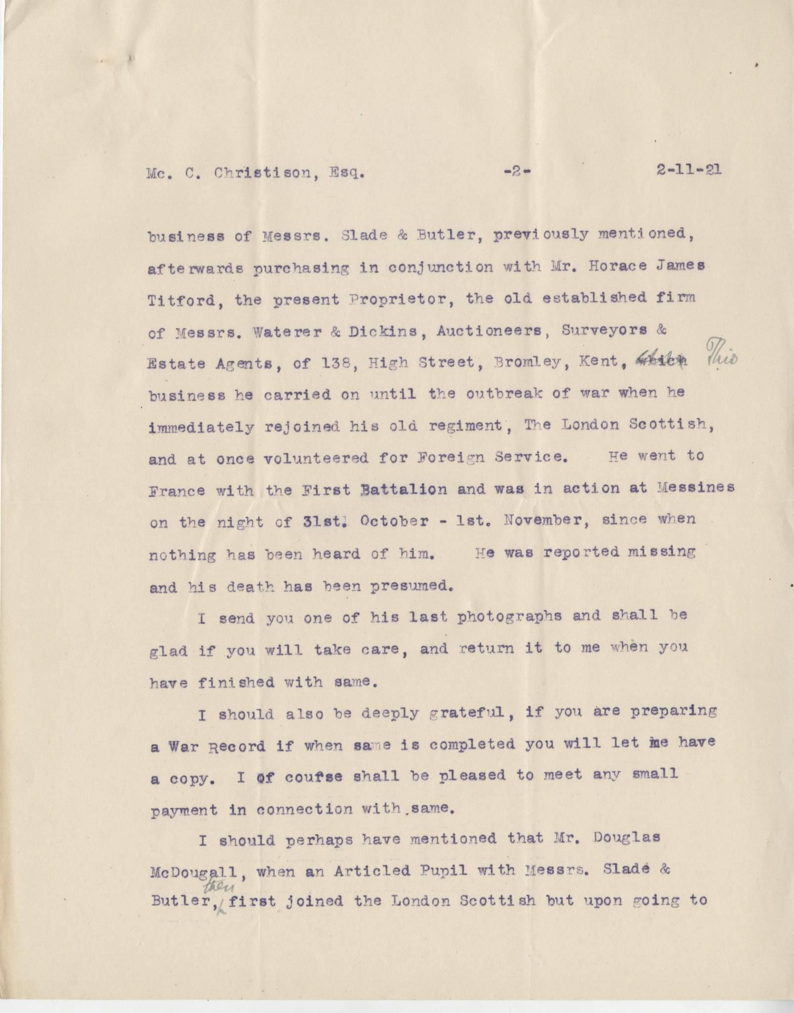 McDougall DR Letter 2