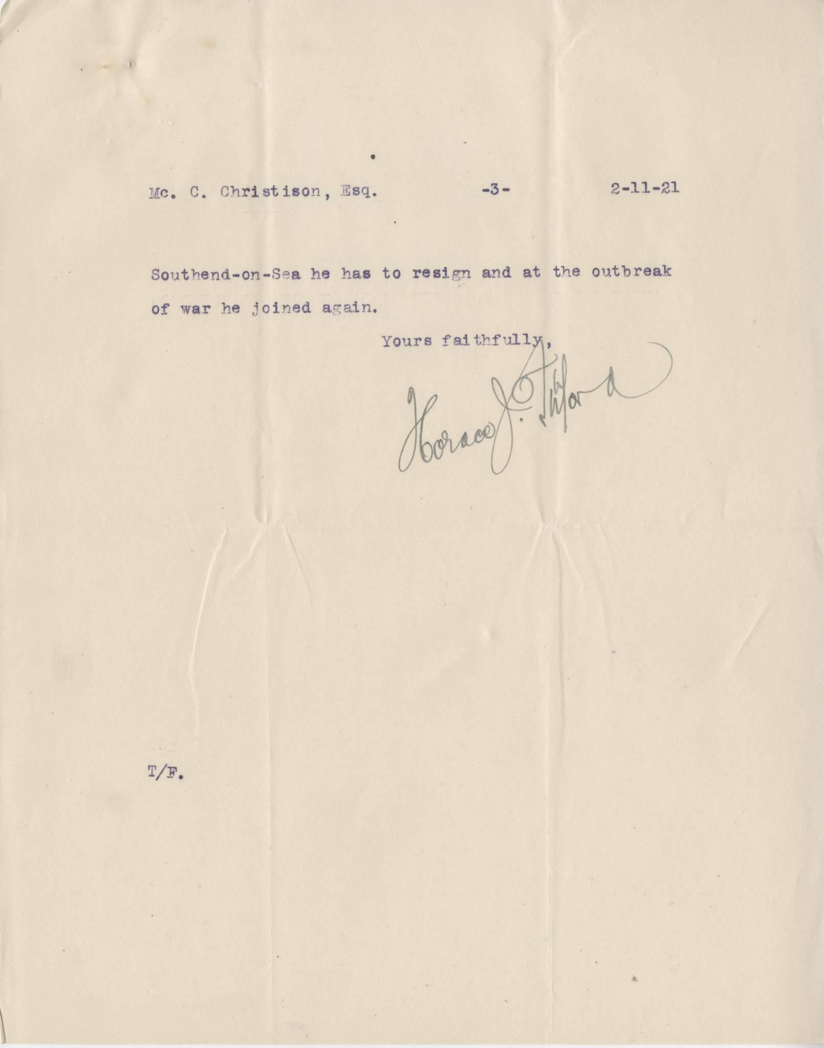 McDougall DR Letter 3