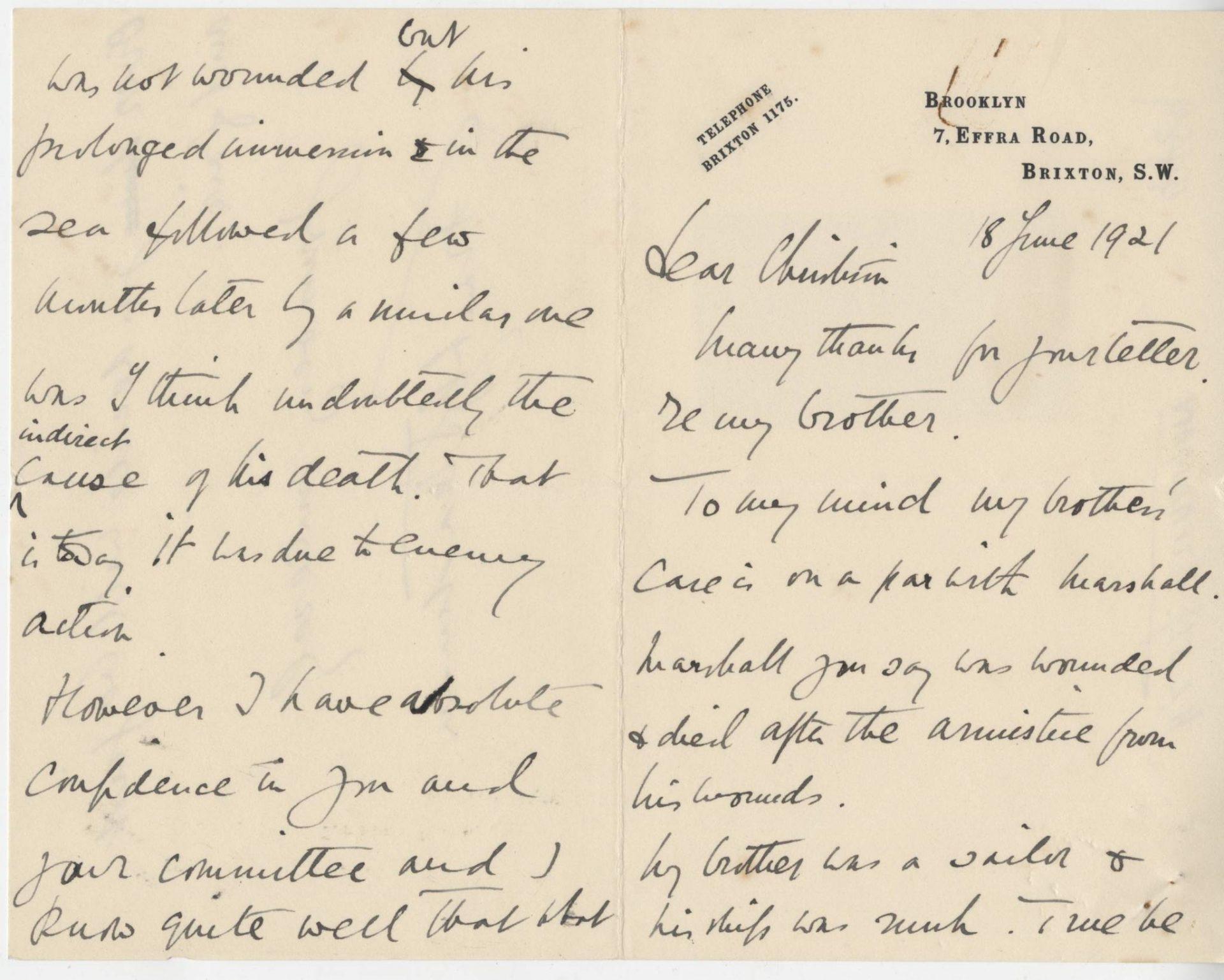 Steadman HLSt.J Sister Letter 1