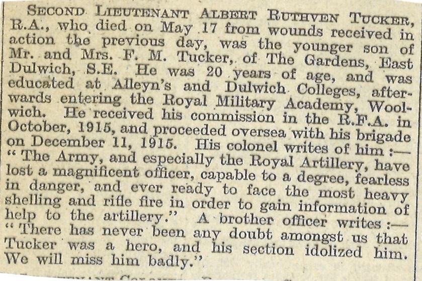 Tucker AR Obituary
