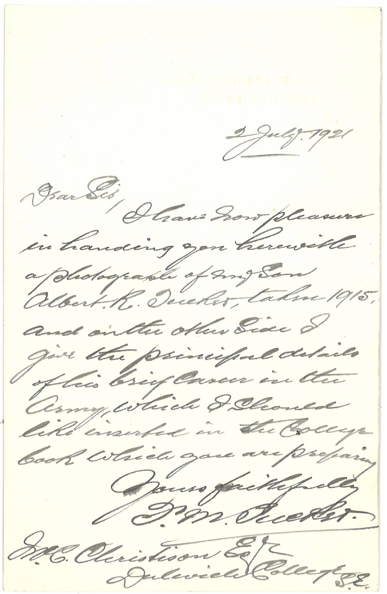 Tucker AR Second Father Letter