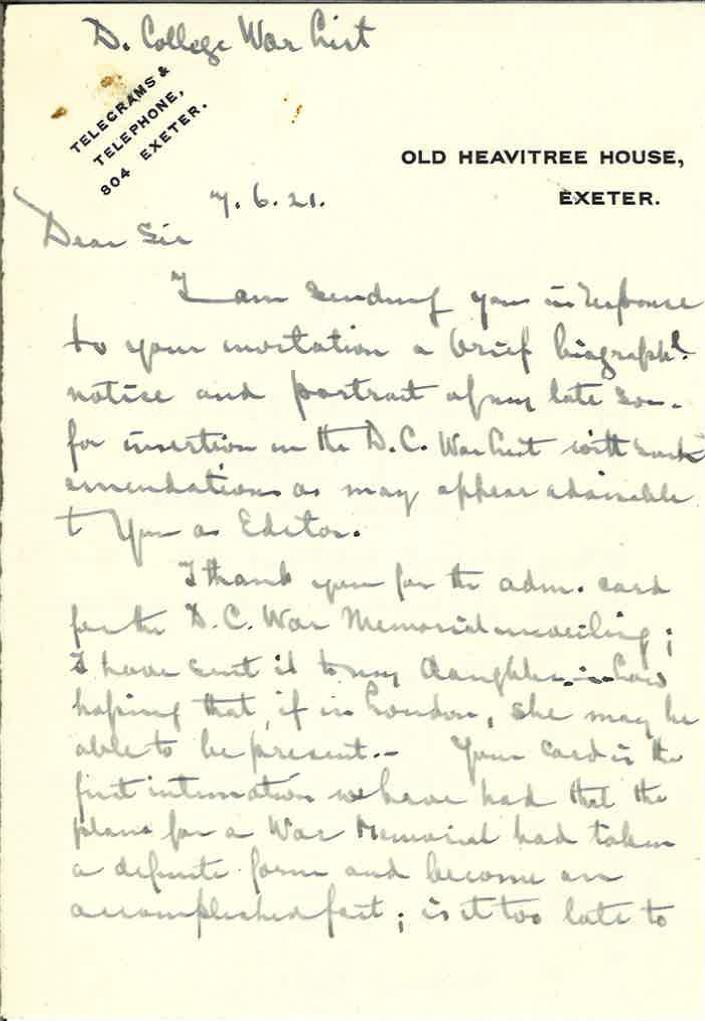 Wissmann JR Father Letter 1
