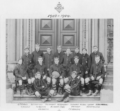 The Dulwich College 1st XV Rugby sport team 1903-04