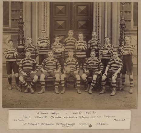 Photograph of the 1st XV Rugby Sport team, 1896-97
