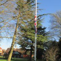 Sumner SDS Union Flag Half Mast