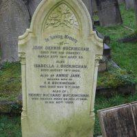 Grave of JD Buckingham West Norwood Cemetery