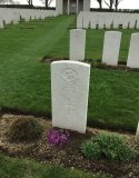 The graves at Cabaret-Rouge British Cemetery, including that of Lieutenant LP Long