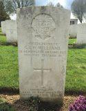 The grave of Private GEN Williams, Cabaret-Rouge British Cemetery