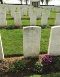 View of Cabaret-Rouge British Cemetery, showing the grave of Private GEN Williams